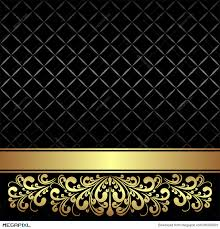 black and gold ribbon luxury background decorated the vintage ornament and ribbon