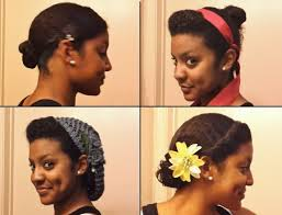 4 easy stylish ways to bun your transitioning hair youtube
