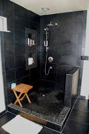 Open Shower Bathroom Design 20 Modern Bathrooms With Black Shower Tile Open Showers