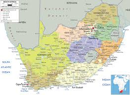 the map of africa detailed political map of south africa ezilon maps