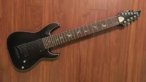 9 string fanned fret unbiased gear review schecter damien platinum 9 9 string guitar