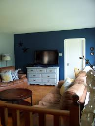 Blue Feature Wall In Bedroom Real Interiors Black And White Rooms
