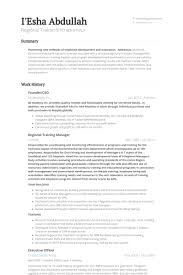 Regional Manager Resume Sample by Training Manager Resume Samples Visualcv Resume Samples Database