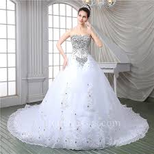 beaded wedding dresses gorgeous gown strapless corset back tulle lace beaded