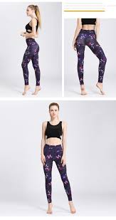 purple elf womens workout pants yoga leggings activewear cn