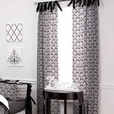 White And Black Damask Curtains Black And White Curtains Create A Stylish Look To Your Home