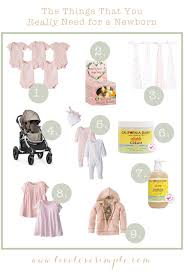 baby needs things that you really need for a newborn live simple
