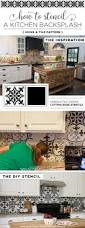 how to stencil a kitchen backsplash using a tile pattern stencil