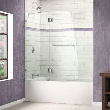 Shower Tub Door by Shower Tub Doors Wayfair Aqualux 58 X 48 Pivot Frameless Hinged