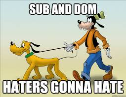 sub and dom haters gonna hate misc quickmeme