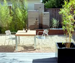 horizontal wood fence patio modern with concrete water feature san