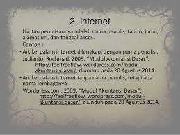 cara membuat daftar pustaka dari internet tanpa nama ppt daftar pustaka bahasa indonesia