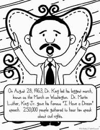 freebie martin luther king jr color and learn book pages mlk