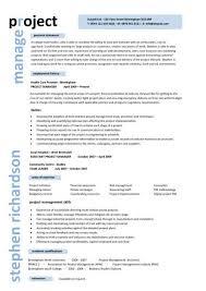 Project Manager Resume Description Download Example Project Manager Resume Haadyaooverbayresort Com
