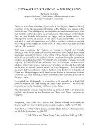 china africa relations a bibliography china international politics