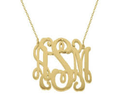 Gold Plated Monogram Necklace Monogram U0026 Name Necklaces