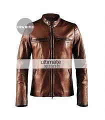 motor leather jacket cafe racer vintage men u0027s brown motorcycle leather jacket