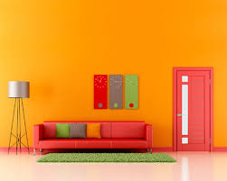 make home decoration fun with light orange wall paint warisan