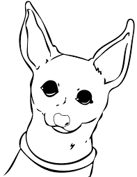 dog color pages printable within chihuahua coloring new glum me