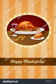 religious thanksgiving greetings thanksgiving greeting roasted turkey pie wine stock vector