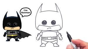 draw batman cute easy