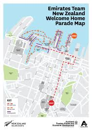 Emirates Route Map by Emirates Team New Zealand Homecoming Parade Route Confirmed U2013 On