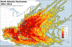 East Coast Time Zone Map by The Regions Most At Risk For Atlantic Hurricanes In 3 Maps The