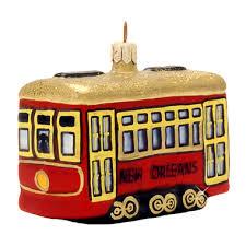 new orleans streetcar glass ornament