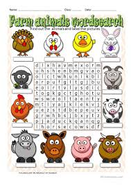 116 free esl farm animals worksheets