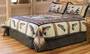 theme quilt fishing comforter sets with theme bedding for bed themed