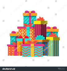 wrapped christmas boxes big pile colorful wrapped christmas gift stock vector 539945440