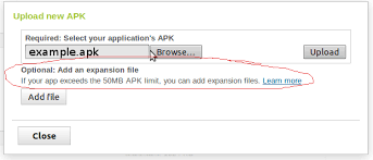 create apk android steps to create apk expansion file stack overflow