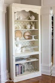 diy stenciled bookcase u0026 giveaway