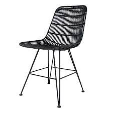 scandi chair scandi style rattan dining chair in black dining chairs cuckooland