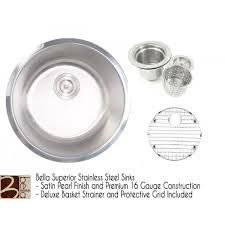 Round Kitchen Sink by Bella 46 Inch Stainless Steel Undermount Triple Bowl Kitchen Sink
