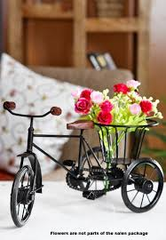 Miniature Flower Vases Buy Etsibitsi Flower Vase Cycle Rickshaw Showpiece Flower Vase