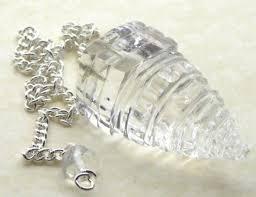 clear gemstones shri yantra clear quartz gemstone pendulum for divination 18784