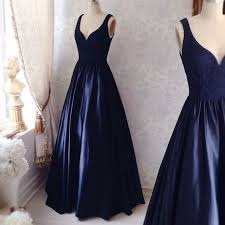elegant dark blue lace long prom dress navy blue evening dresses