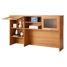 Maple Desk With Hutch Realspace Magellan Collection Hutch Honey Maple By Office Depot