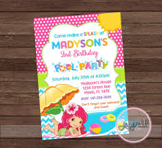 how to make pool party invitations strawberry pool party invitation strawberry