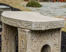 Concrete Curved Bench - 34