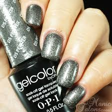 opi gelcolor ds pewter manic talons soak off gel polish swatches