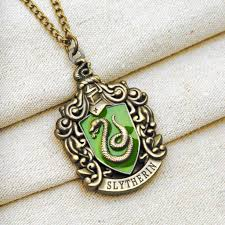harry potter pendant necklace images Harry potter slytherin house crest pendant necklace bronze jpg