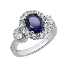 bjs engagement rings 2 50 ct t w created sapphire ring in sterling silver bj s