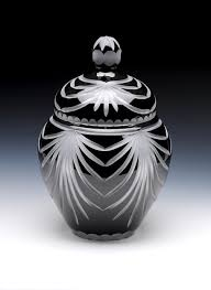 urns for cremation angel wings black lead glass urn