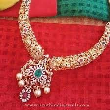new diamond necklace images New diamond necklace design south india jewels jpg