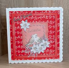 handmade christmas card made in craft artist using the 12 days of