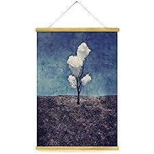 magnetic poster frame hanger oak wood artwork print