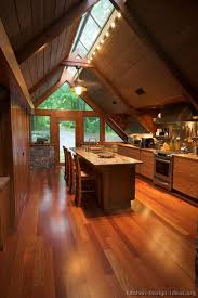 kitchen design ideas org a wood cabin kitchen with vaulted ceilings