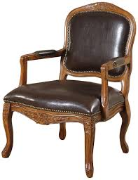 Irving Leather Chair Amazon Com William U0027s Home Furnishing Traditional Studded